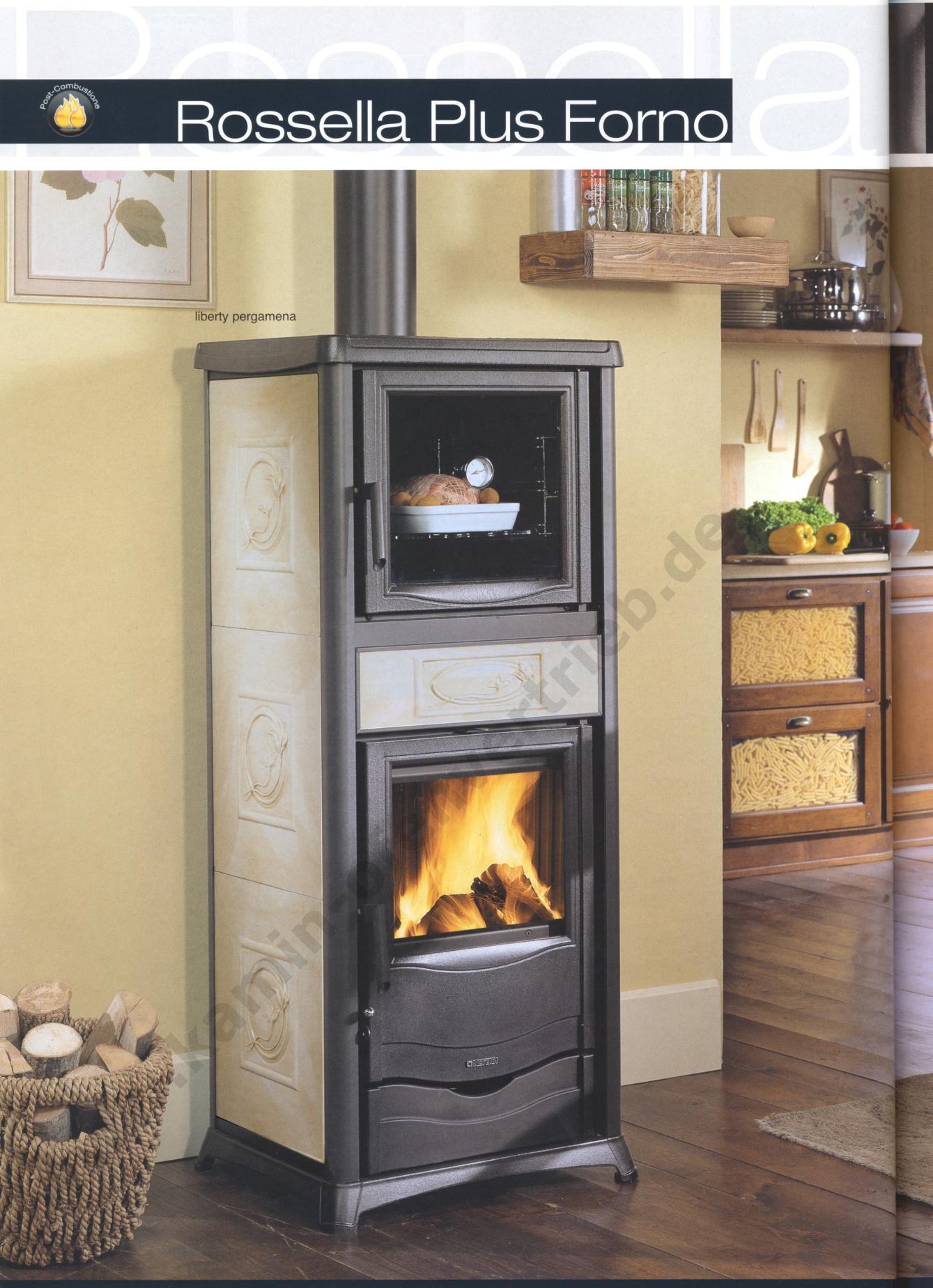 kaminofen la nordica rossella plus und rossella plus forno. Black Bedroom Furniture Sets. Home Design Ideas